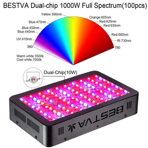 BESTVA 800/1200/1500W LED Lampe de Culture