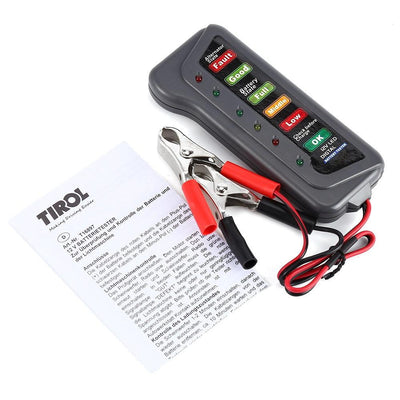 T16897 12V Digital Battery Alternator Tester 6 LED Lights Display Indicates Condition - GearMeeUp