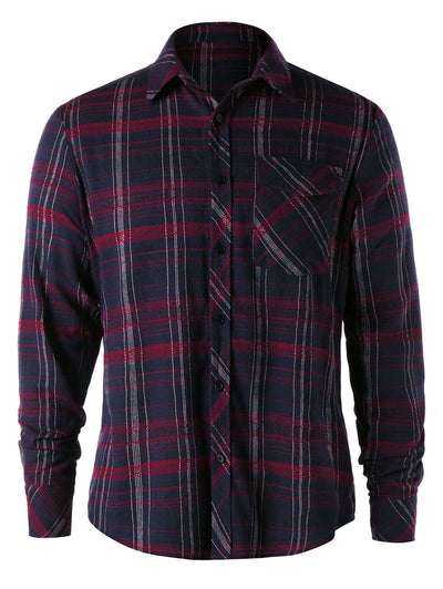 Plaid Chest Pocket Shirt - GearMeeUp