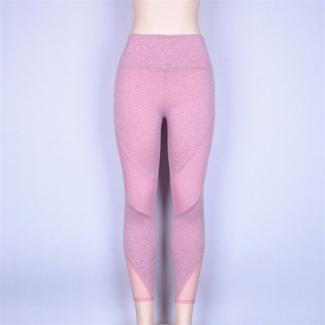 Skinny Sheer Mesh High Waist Leggings Yoga - GearMeeUp