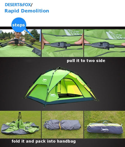 Double Layer Instant Setup Tent - GearMeeUp
