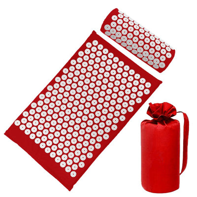 Acupressure Mat Cushion with Pillow - GearMeeUp