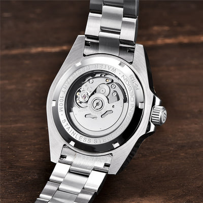 Luxurious Mechanical Automatic Stainless Steel Watch - GearMeeUp