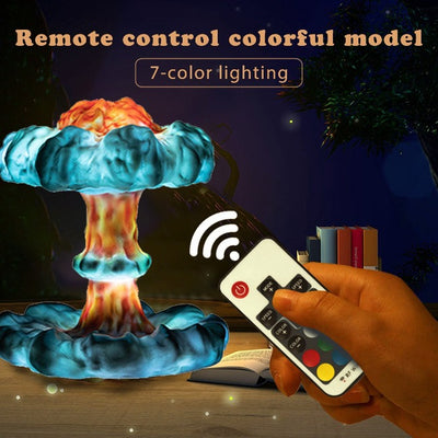 Nuclear Explosion Mushroom Cloud Night Light - GearMeeUp