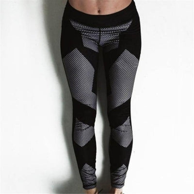 Geometrical Pattern Fitness Leggings - GearMeeUp