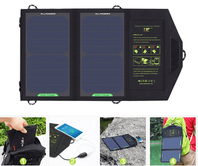 Solar Panel 10W 5V Solar Charger Portable Solar Battery Chargers Charging for Phone for Hiking etc. Outdoors. - GearMeeUp