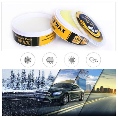 Premium Carnauba Car Wax Crystal Hard Wax Paint Care Scratch Repair Maintenance Wax Paint Surface Coating Free Sponge - GearMeeUp