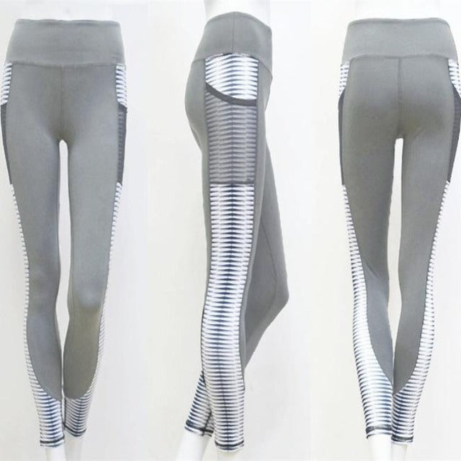 High-Waisted Pocket Fitness Leggings - GearMeeUp
