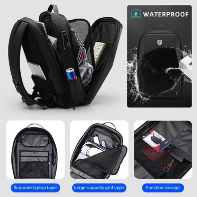 Anti Theft Hard Shell Polyhedron Backpack - GearMeeUp