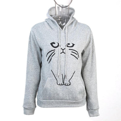 Ear Cat Pattern Women Hoodies - GearMeeUp