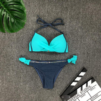 Britney™ Two Piece Side Knot Swimwear - GearMeeUp