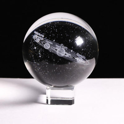 Crystal Solar System with a Touch Switch LED Light Base - GearMeeUp