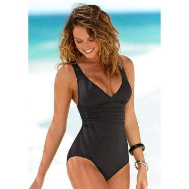 Aubrey™ One Piece Criss Cross Swimwear - GearMeeUp