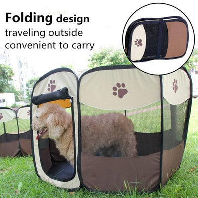 Portable Folding Pet Playpen - GearMeeUp