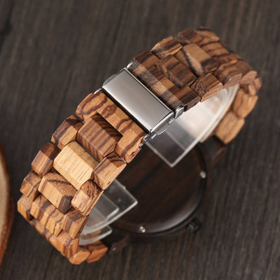 Unique Mixed Colour Wood Watch - GearMeeUp