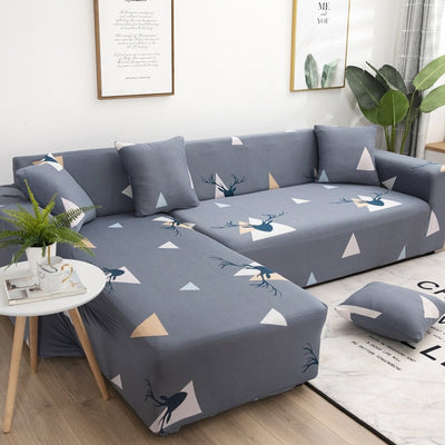 Unique Geometric Pattern Sectional Couch Cover - GearMeeUp