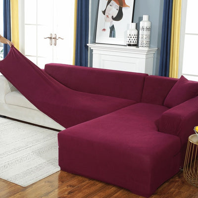 Limited Solid Colour Knit Spandex Couch Cover - GearMeeUp