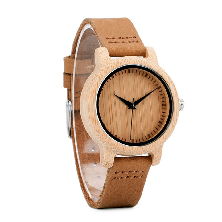 Classic Natural Bamboo Watch - GearMeeUp