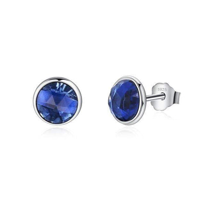 Birthstone Crystal Stud Earrings - GearMeeUp