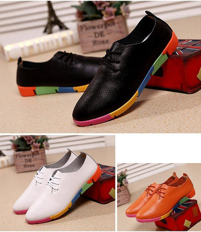 Breathable Genuine Leather Shoes for Women - GearMeeUp