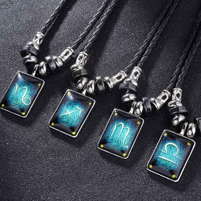 Handmade Luminous Leather Constellation Necklace - GearMeeUp