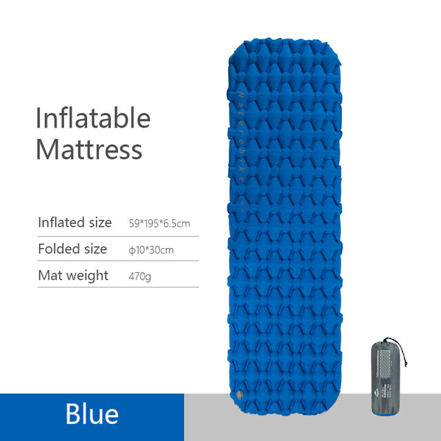 Lightweight Moisture-Proof Inflatable Camping Mat - GearMeeUp