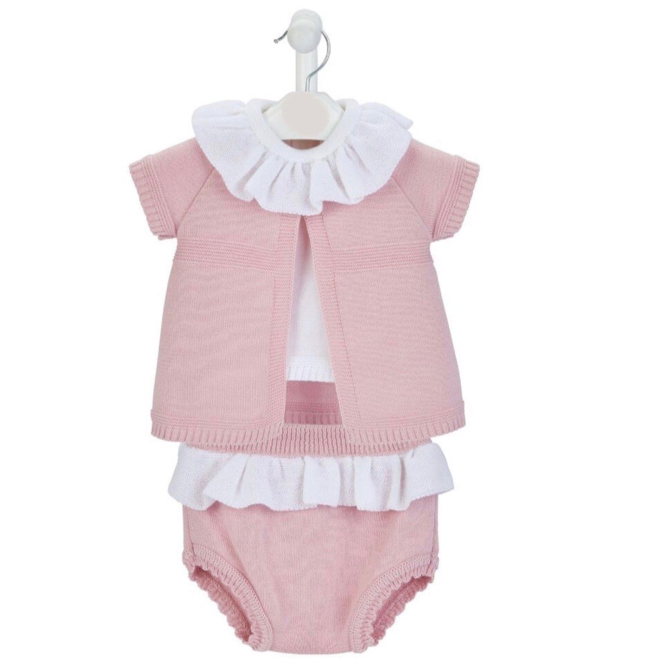 Girls Knitted 3 piece Set (2 colours available)