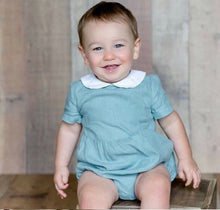 Load image into Gallery viewer, Boys/Girls Collared Rompers (3 colours/can be personalised)