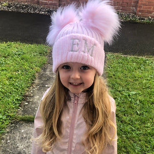 Faux Fur Double Pom Hats (6 colours available)