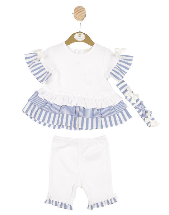Mintini Striped Blue and White Set