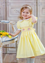 Load image into Gallery viewer, Spring Yellow Hand Smocked Dress