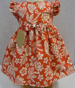 Tropical Print Bow Dress