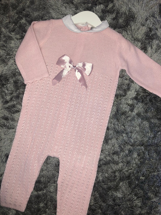 Pink Ribbon Full Length Romper