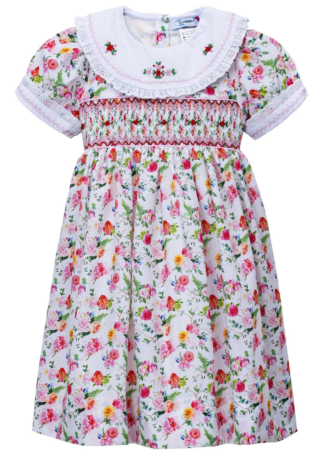 Rose & Peony Hand Smocked Dress LIMITED EDITION