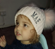 Load image into Gallery viewer, Faux Fur Double Pom Hats (6 colours available)