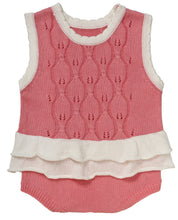 Load image into Gallery viewer, Baby Girls 'Olivia' Cotton Openwork Romper