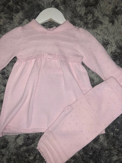 Popcorn Dress and Legging Set (9 months)