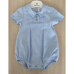 Lavicar Blue Button Trim Romper