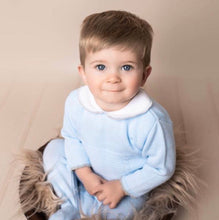 Load image into Gallery viewer, Blue and Grey Boys knitted 2 piece set