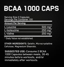 Load image into Gallery viewer, Optimum Nutrition BCAA 1000 200caps