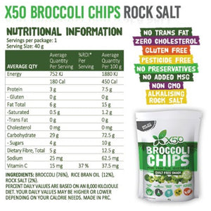 GreenTea X50 Broccoli Chips 5x60g Value Pack