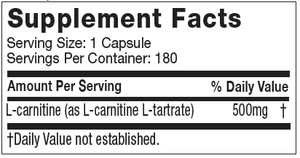 Muscletech 100% Carnitine 180caps