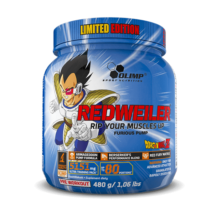 Dragon Ball Z Super Saiyan Vegeta Pre-workout 80serve