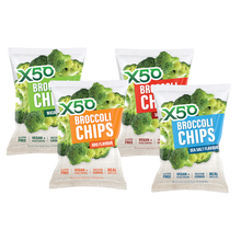Load image into Gallery viewer, GreenTea X50 Broccoli Chips 5x60g Value Pack