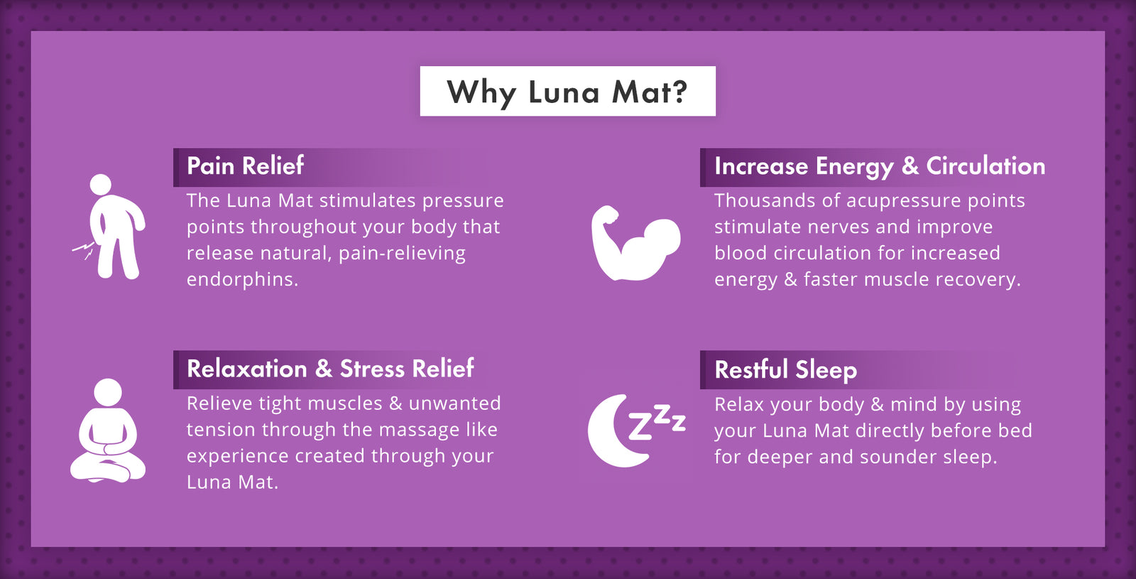 Luna Mat Acupressure Mat and Pillow