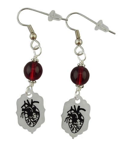 Realistic Heart Earrings