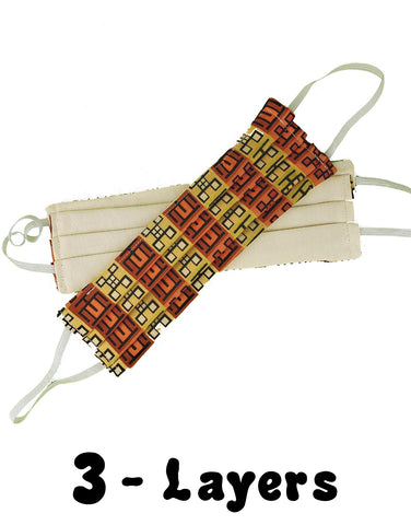 African Print 3-Layer Mask