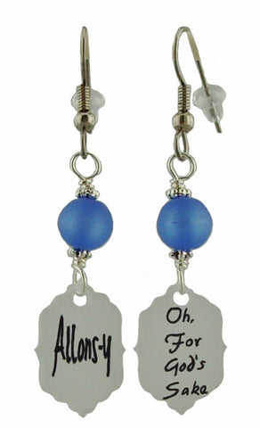 Dr Who Catch Phrase Earrings