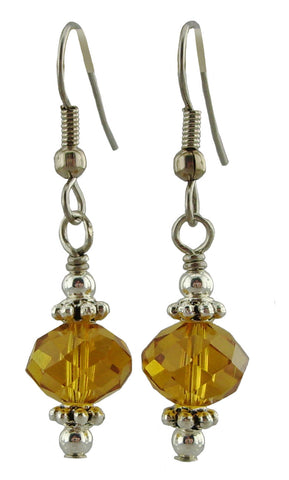 Amber Sparkle Earrings