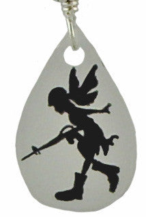 Gun Toting Fairy Earrings